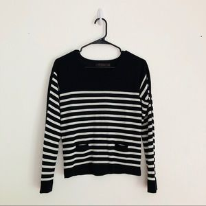 THE LIMITED • Striped Sweater • Black + White